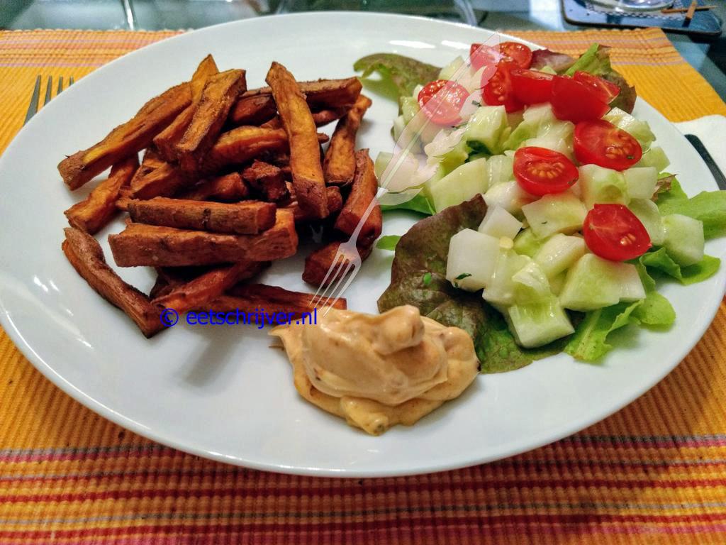 Bataat friet met chipotlemayo